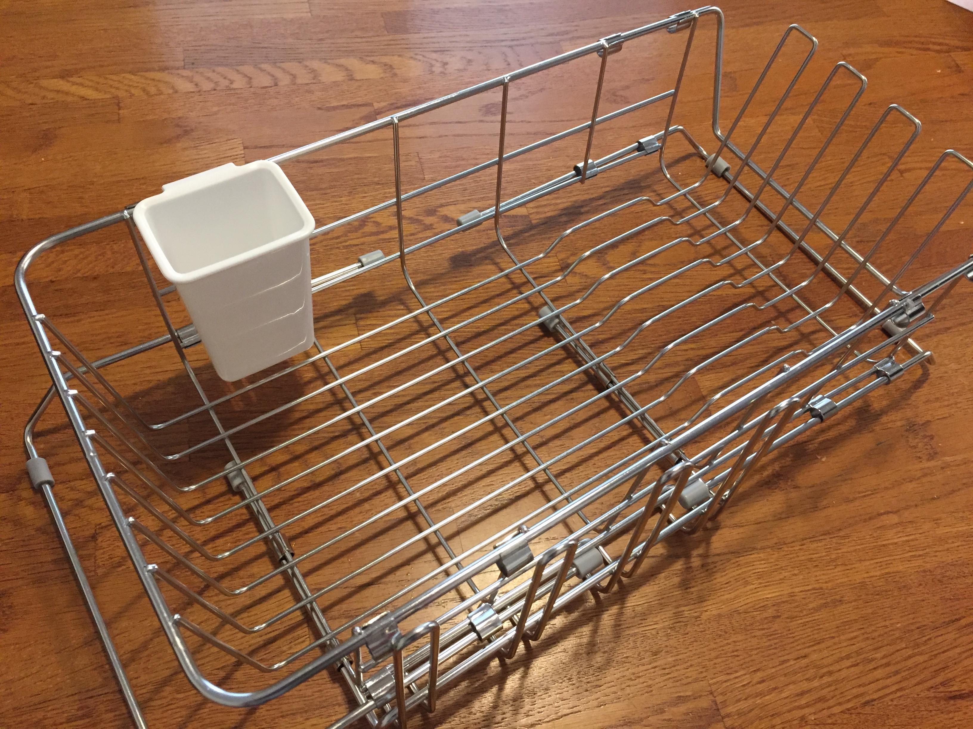 [ミニマリストのキッチン公開]水切りかごを新調して水受けを無くしました